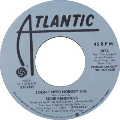 I Don't Need Nobody Else